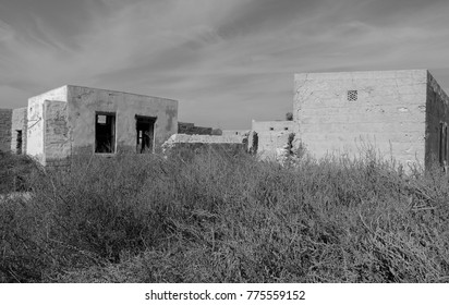 Ghost town on the Arabian Peninsula. Al Jazirah Al Hamra. United Arab Emirates