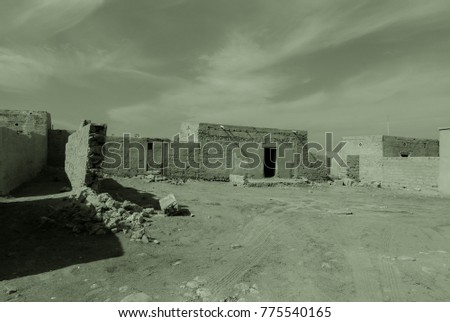 Ghost Town Quietly Sleeping Desert On Stock Photo (Edit Now