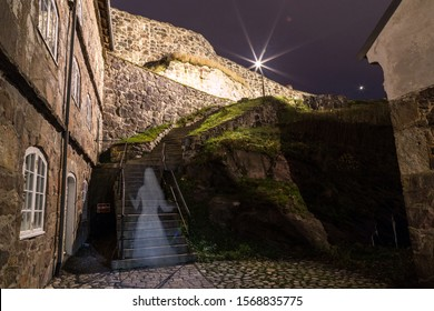 """The ghost """" The White lady"""" at Fredriksten Castle in Halden City Norway"""
