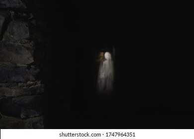 ghost of white lady n Haapsalu town in Estonia