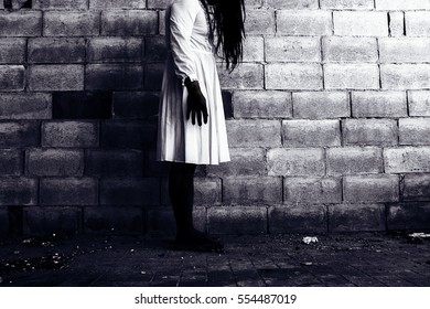 Ghost woman in haunted house