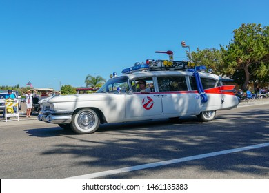 Ghostbusters car at 4th July Independence Day Parade in Rancho Bernardo, San diego, USA. 07/04/2019
