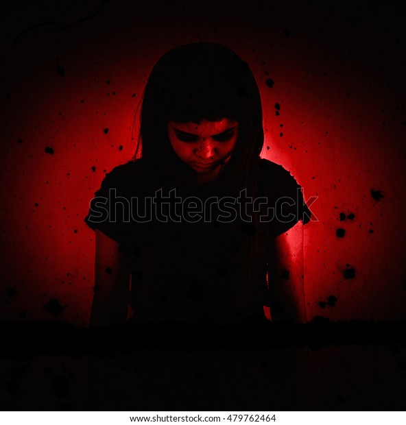 Ghosthorror Background Halloween Concept Movie Poster Stock