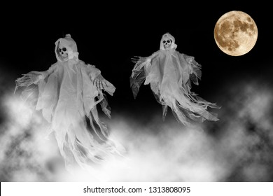 Ghosts and Bloodmoon at Halloween