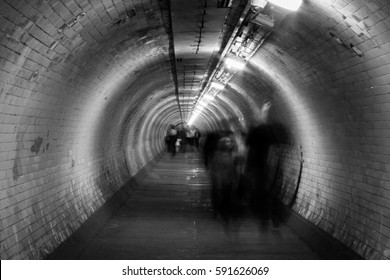 Ghosts in a tunnel (soft focus)