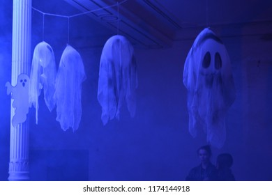 Ghosts waiting for a party of halloween