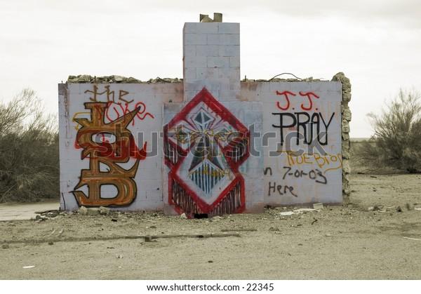 Ghosttown ruins in the Arizona desert