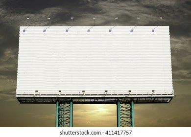 Giant advertising with  sky background.