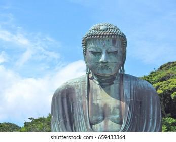 Giant Buddha at Kamakura, Kanagawa Prefecture, Japan.