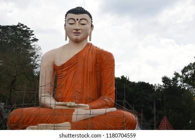 Giant Buddha on a side road,Sri Lanka