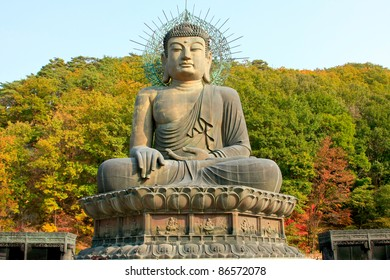 giant buddha in Soraksan national park - south korea