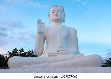 Giant Buddha statue in Mihintale, Anuradhapura, Sri Lanka
