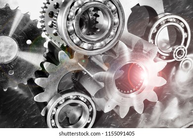 giant cogs and gears used in the aerospace industry