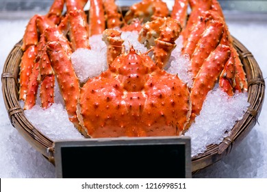 Giant crab fresh from the sea.