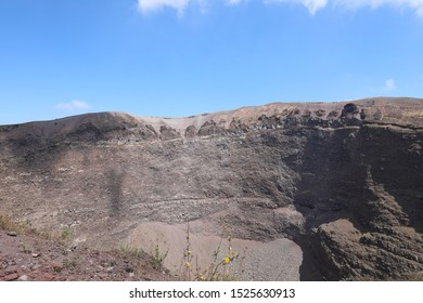giant crater of the volcano VESUVIO near Naples in southern Italy