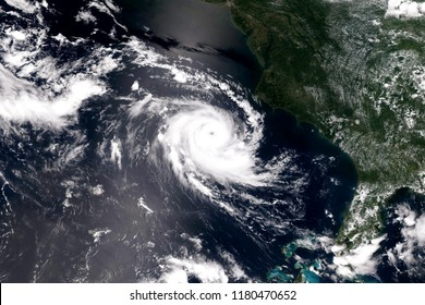 Giant cyclone on the planet Earth. Elements of this image furnished by NASA.