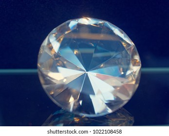 giant Diamond in front of blue background