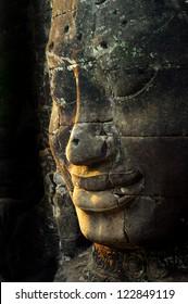 giant face of Buddha