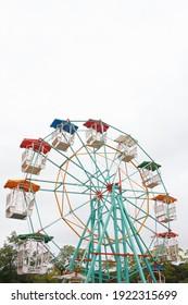 Giant ferris wheel in Amusement park