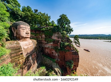 The Giant Leshan Buddha near Chengdu, China