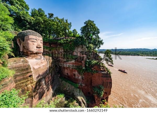 The Giant Leshan Buddha near Chengdu, China