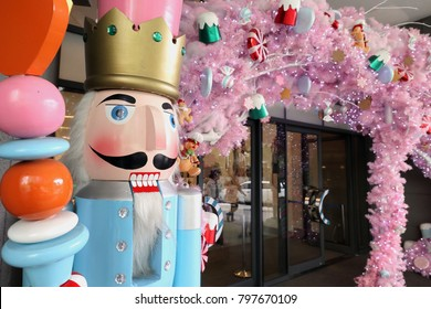 Giant nutcracker at the entrance of a shoppig mall in Manila, Philippines