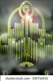 giant organ of oz in emerald city