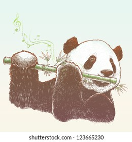 Giant panda, The bamboo musician
