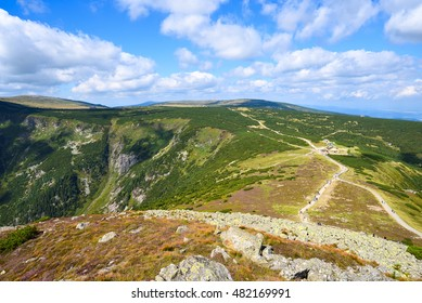 Giant Pass in the Giant Mountains in the Czech Republic