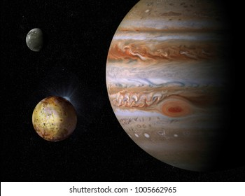 The Giant planet Jupiter and his satellites