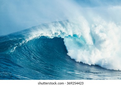 Giant Powerful Blue Ocean Wave