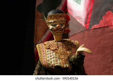 Giant puppet in Ramayana. Thai traditional art. Famous traditional show in Thailand.