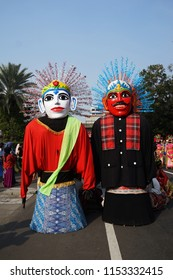 Giant Puppets, who are called 'Ondel - Ondel' are the traditional from Betawi Culture, and the icon of Jakarta, Indonesia