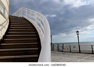 giant stairs to Worthing Pier