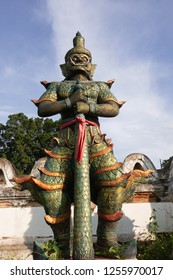 Giant statue In front of the temple of Thailand
