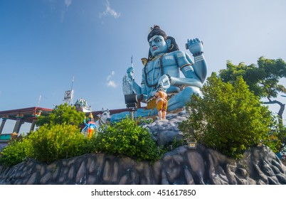 The giant statue of god Shiva at Koneshwaram, Trincomalee Sri Lanka