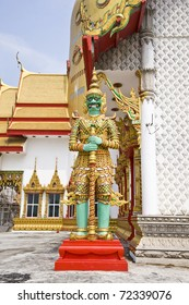 Giant statue in thai temple Chachengsao In Thailand