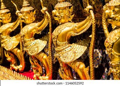 Giant statues in Bangkok national royal palace, Thailand