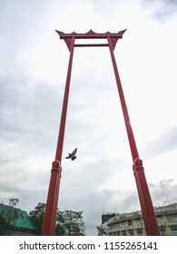 Giant Swing in Bangkok, Thailand,it was formerly used in an old Brahmin ceremony