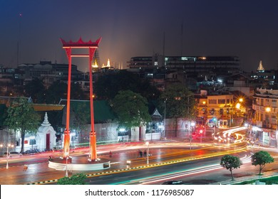 The giant swing, called Sao Ching Cha during night time