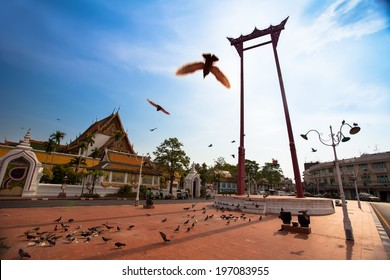 The Giant Swing with Temple of Buddha (Bangkok, Thailand)