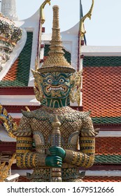 the giant in Temple of the Emerald Buddha (Wat pha kaew).