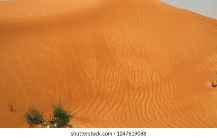 giant wall of sand in Oman desert