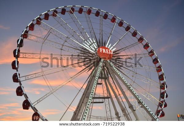 giant wheel at global village, dubai, uae, middle east, 11th february 2012