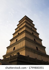 Giant Wild Goose Pagoda or Big Wild Goose Pagoda is a Buddhist pagoda. It was built in AD 652 during the Tang dynasty. Xian City, Shaanxi Province, China. October 22nd, 2018.
