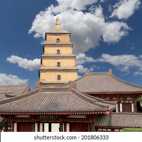 Giant Wild Goose Pagoda or Big Wild Goose Pagoda, is a Buddhist pagoda located in southern Xian (Sian, Xi'an),Shaanxi province, China