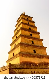 Giant Wild Goose Pagoda complex, a Buddhist pagoda Xi'an, Shaanxi province, China. It was built in 652 during the Tang dynasty. UNESCO world heritage