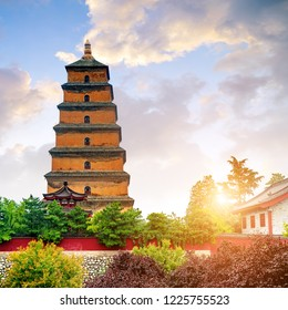 Giant Wild Goose Pagoda in the Morning, Xi'an, China