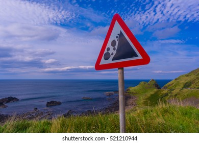 Giants Causeway Coastal Route Warning Sign