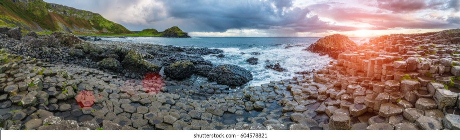 The Giant's Causeway  in the morning, Northern Ireland.
